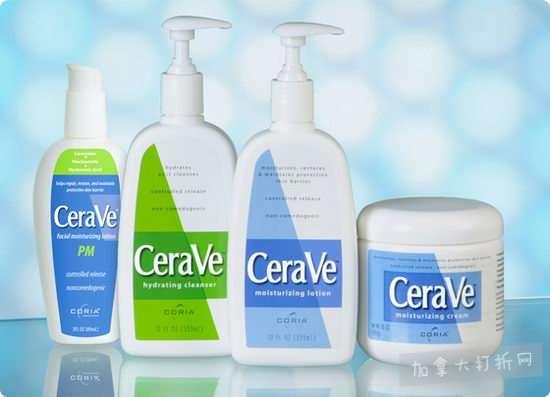 湿疹救星!CeraVe 精选保湿霜、护肤乳液 8折优惠!