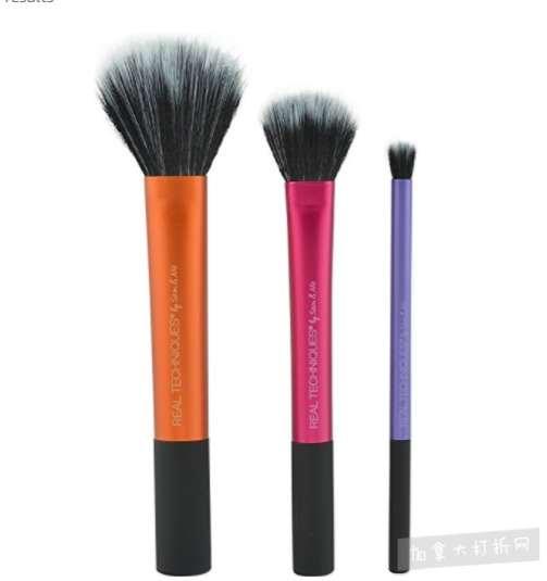 Real Techniques Duo-Fiber化妆刷 3件套  16.54加元,原价 25.12加元