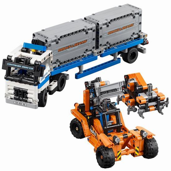 LEGO 乐高42062科技组  集装箱工程车组合 59.97加元,原价 74.99加元,包邮