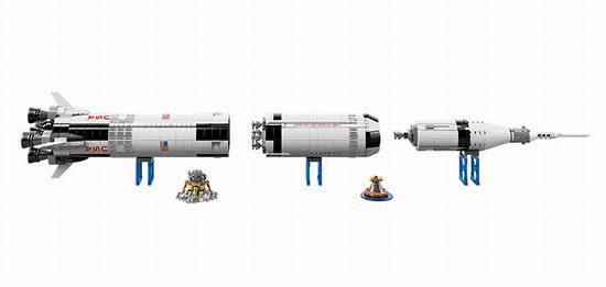 历史新低!LEGO 乐高 21309 创意系列 Saturn Ⅴ 阿波罗计划 土星五号运载火箭(1969pcs)7折 104.86加元包邮!