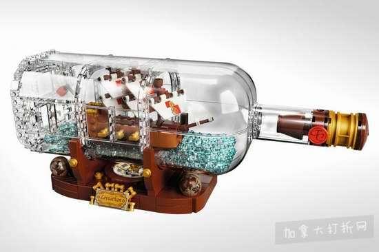 新品上市!LEGO 乐高 21313 Ideas 瓶中船 89加元包邮!