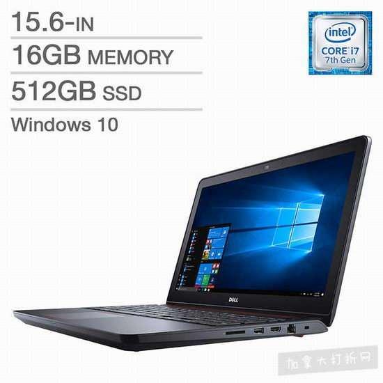 Dell Inspiron 15 5000 15.6寸游戏笔记本电脑(16GB/512GB SSD) 849加元包邮!