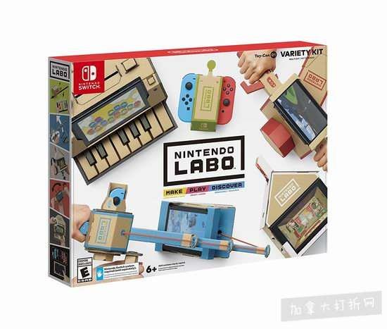 新品发售:任天堂新玩法Nintendo Labo - Variety Kit 限量版游戏 89.96加元!