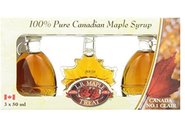 送礼首选!L B Maple Treat纯天然枫糖浆礼盒装 15.1加元,原价 20.24加元