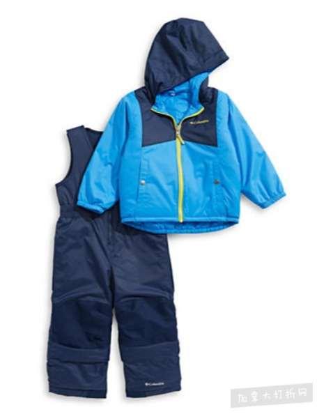 COLUMBIA儿童防水防风雪衣雪裤套装 79.99加元,原价 159.99加元