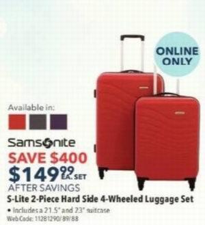 精选Samsonite拉杆行李箱套装 2.5折起,折后低至79.99加元!