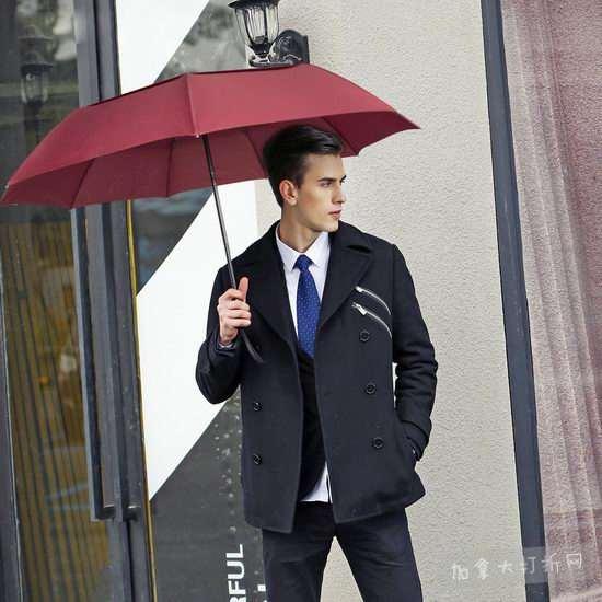 历史新低!Vanwalk 防风双层雨伞 12.99加元清仓!2色可选!