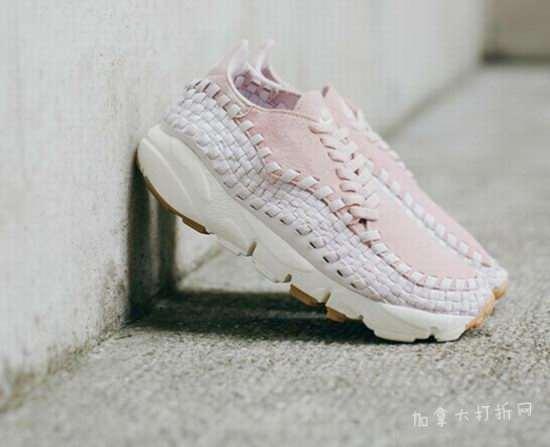 全新Nike Air Footscape Woven樱花粉色编织波鞋 瞬间攻略女孩心