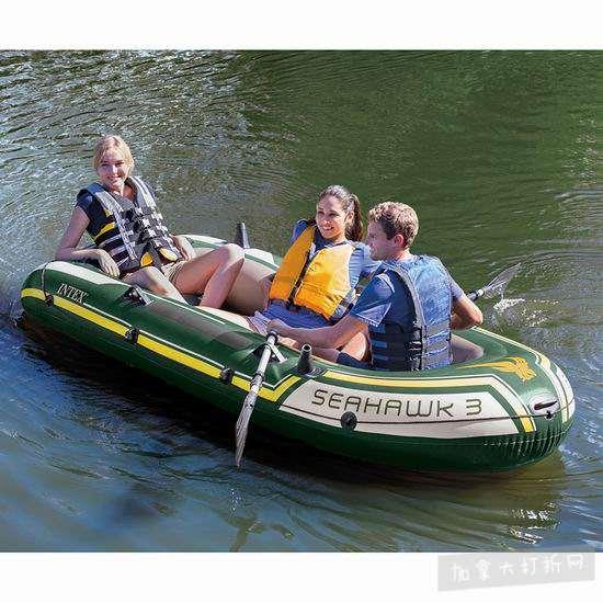 Intex Seahawk 3人坐充气船/橡皮艇/钓鱼船 81.49加元包邮!