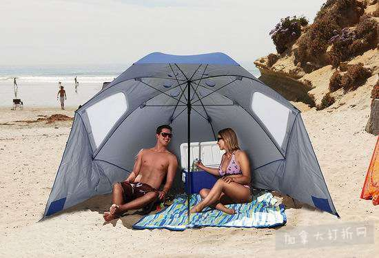历史最低价!SKLZ Sport Brella 9英尺加大号便携式遮阳棚/遮阳伞 55.67加元包邮!