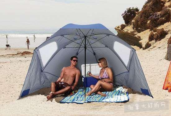 SKLZ Sport Brella 9英尺加大号便携式遮阳棚/遮阳伞6.5折 68.11加元包邮!