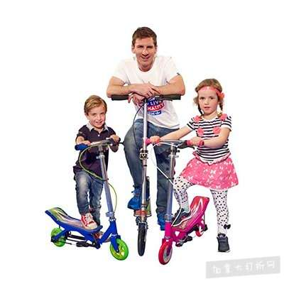 手慢无!SpaceScooter X580 成人儿童 太空漫步 滑板车4.3折 82.9加元包邮!
