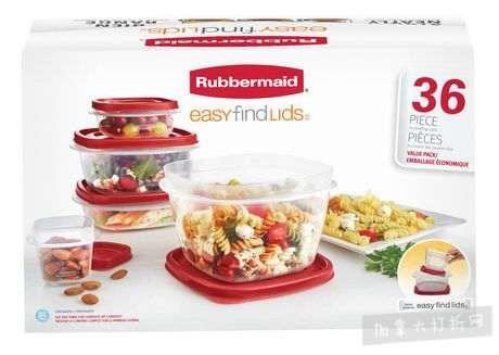Rubbermaid Easy Find Lids 易开保鲜盒36件套 7加元清仓!