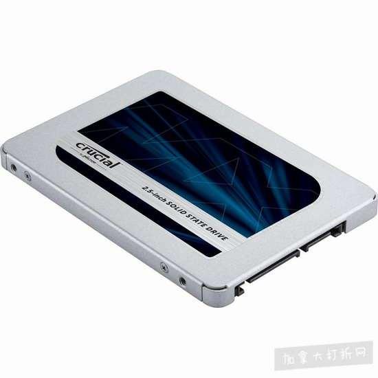 历史最低价!Crucial 英睿达 MX500 3D NAND 500GB 2.5英寸固态硬盘 79.93加元包邮!
