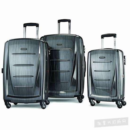 Samsonite 新秀丽 Winfield 2 时尚炭灰色 硬壳拉杆行李箱3件套 356.44加元包邮!