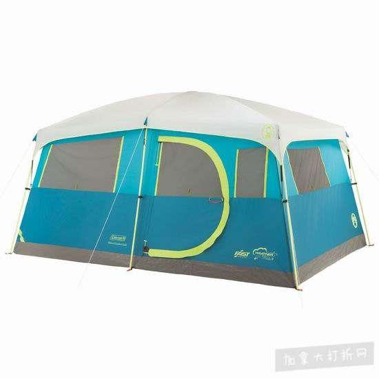 近史低价!Coleman Tenaya Lake 快速搭建 8人家庭野营帐篷 250.07加元包邮!