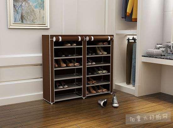 MULSH 带防尘罩 双排六层鞋架 19.99加元限量特卖!