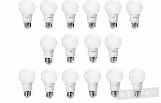 历史新低!Philips 飞利浦 LED A19 60瓦等效 LED节能灯16件套 31.75加元!