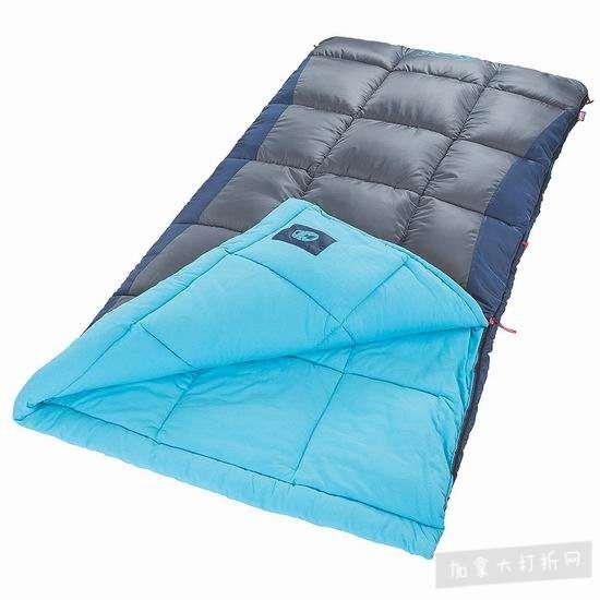 历史新低!Coleman Heaton Peak Big & Tall 零下1度 加宽加长 户外保暖睡袋5.2折 54.13加元包邮!