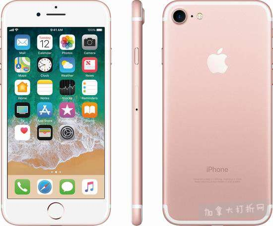 翻新 Apple 苹果 iPhone 7 32gb 玫瑰金 解锁版 智能手机 469.99加元包邮!