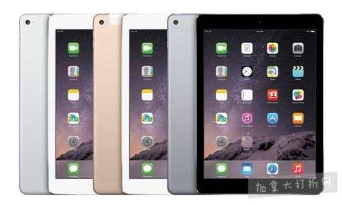 翻新 Apple iPad Air 2 16GB/GB/GB 9.7英寸平板电脑 289.99-379.99加元包邮!3色可选!
