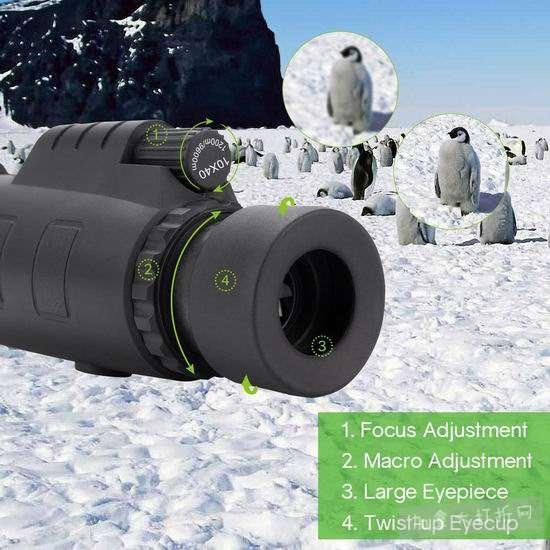 白菜价!历史新低!Tsumbay 10X40 手持式单筒望远镜2.3折 5.99加元清仓!