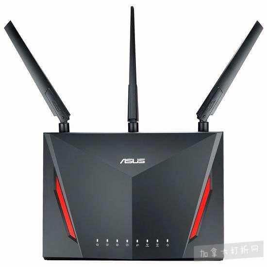 历史新低!ASUS 华硕 RT-AC86U 双频千兆 智能无线路由器 199.99加元包邮!