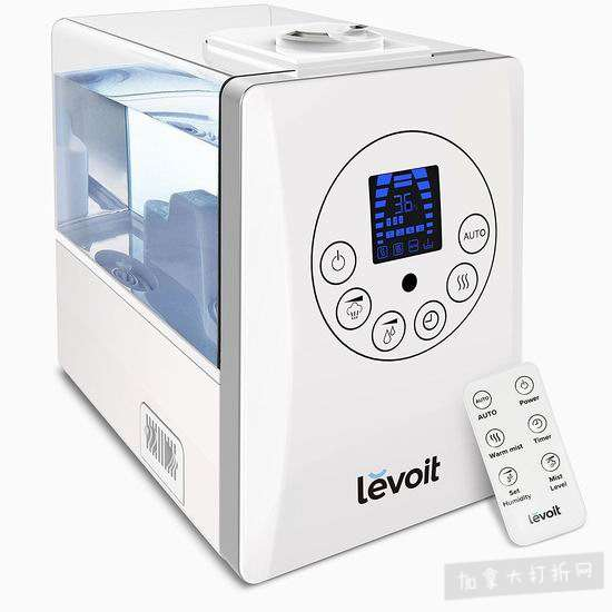 历史新低!Levoit LV600HH 超声波冷暖雾静音加湿器 84.99加元包邮!