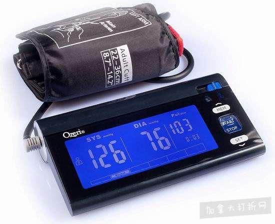 新春专享:Ozeri CardioTech BP3T 上臂式电子血压计3.2折 25加元清仓!