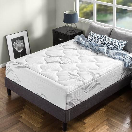 Zinus 12英寸豪华超软绿茶记忆海绵Queen床垫 316.99加元包邮!