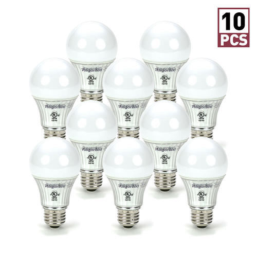 RayonLED 45瓦等效 可调亮度 A19 LED 暖白色节能灯10件套 14.99加元包邮!