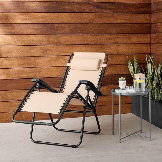 精选3款 AmazonBasics Zero Gravity 零重力休闲躺椅3.7折 55.47-61加元包邮!