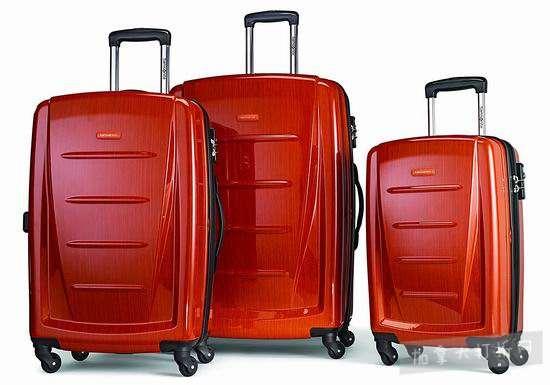 红红火火过新年!Samsonite 新秀丽 Winfield 2 时尚橘红 硬壳拉杆行李箱3件套 349.85加元包邮!