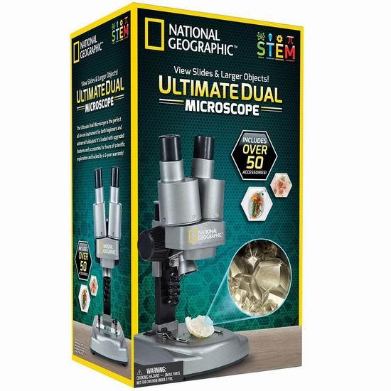金盒头条:精选3款 National Geographic 国家地理 双筒科学显微镜套装74.39加元起!均为历史新低价!