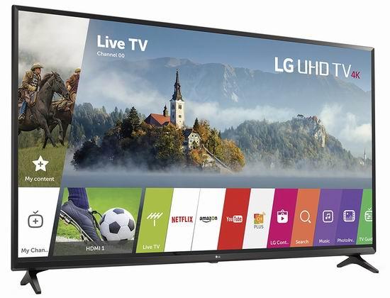 历史新低!2017款 LG 65UJ6300 65寸4K超高清智能电视6折 1156.73加元包邮!