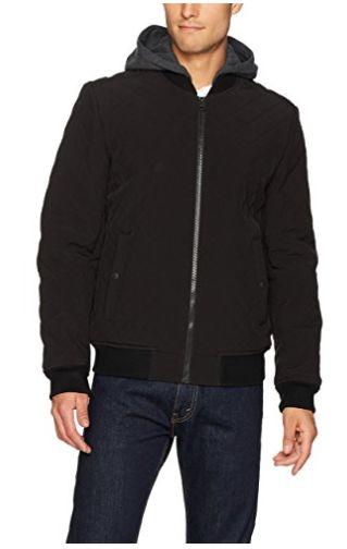 白菜价!历史新低!Levi's 李维斯 Quilted Softshell 男士黑色连帽保暖夹克2折 38.35加元清仓!码齐全降价!