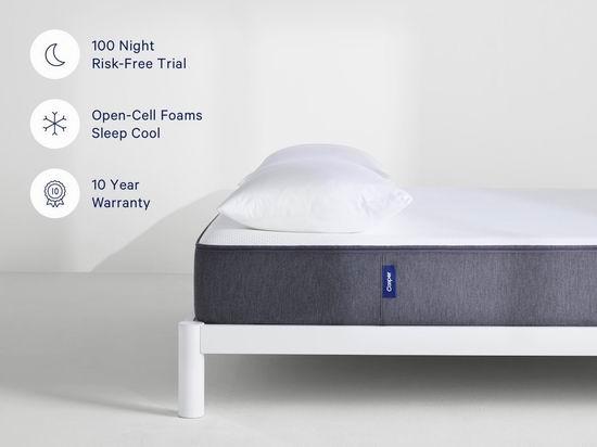 精选 CASPER The Casper 记忆海绵床垫、纯棉被套4件套、枕头等最高立省200加元+额外9折!荣获最佳发明奖!