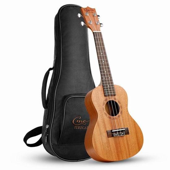 Hricane Soprano Ukulele UKM-1 21寸/23寸/26寸 专业夏威夷小吉他/尤克里里3.3折 55.99-71.99加元限量特卖并包邮!
