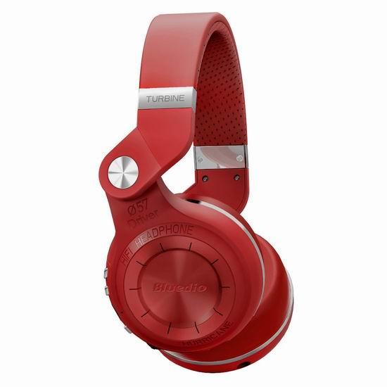 Bluedio T2S 蓝弦专业版头戴式耳机3.2折 25.49加元限量特卖!3色可选!