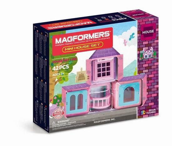 历史新低!Magformers 迷你小屋 磁力积木42片装4.8折 37.45加元包邮!