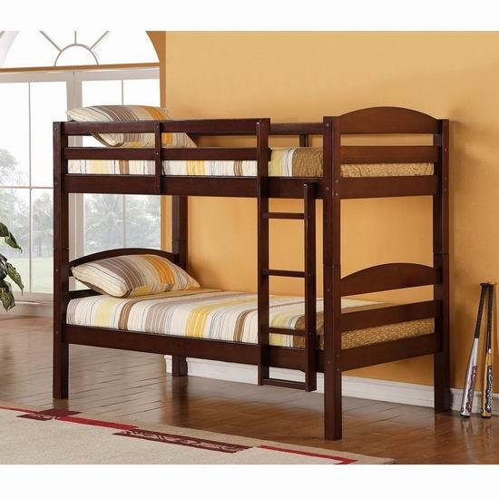 历史新低!Walker Edison Furniture 实木Twin双层高低床4.9折 316.97加元包邮!