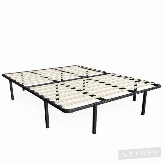 历史新低!Zinus 14英寸 MyEuro SmartBase 强力钢+木条 床垫架 102.93加元包邮!