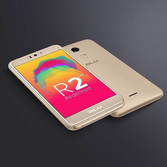 历史新低!BLU R2 5.2寸 解锁版 4G LTE 双卡双待 金色智能手机(3GB/32GB) 149.99加元包邮!