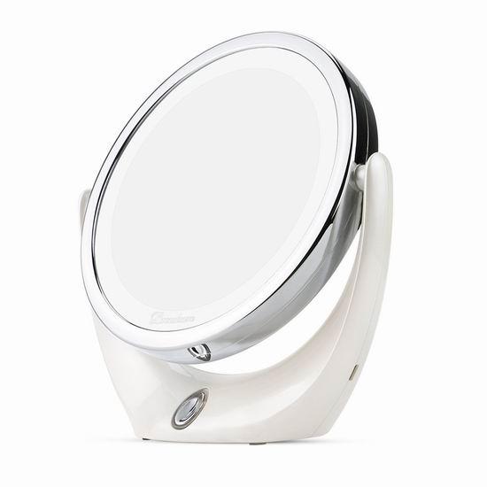 BROADCARE 1X/5X倍放大 双面LED照明化妆镜 21.69加元限量特卖!