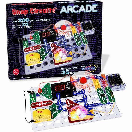 近史低价!Snap Circuits SCA-200 Arcade 电路DIY拼接玩具6.3折 52.56加元包邮!