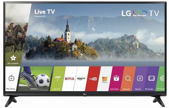 历史新低!LG 49LJ5500 49英寸 1080p全高清 智能电视 497.99加元包邮!