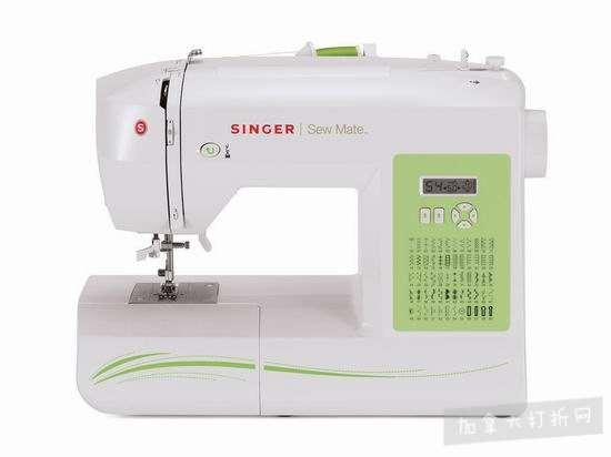 历史新低!Singer 胜家 5400 Sew Mate 家用电动缝纫机4.9折 110.99加元包邮!会员专享!