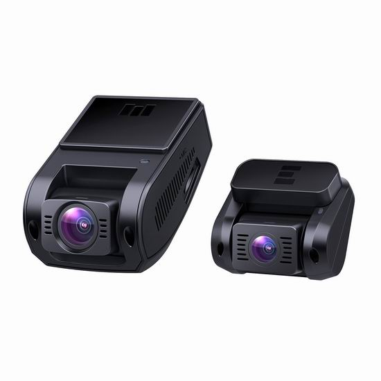 AUKEY 1080P高清170度超广角夜视 前后双摄像头 行车记录仪4.8折 135加元包邮!