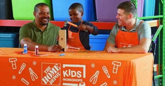 Home Depot 3月分免费儿童手工课,及家庭装修免费课程安排一览!