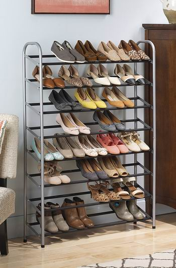 历史新低!Whitmor 6705-3945 8层 银色金属鞋架6.5折 32.39加元!